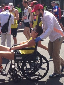 man collapses before finishing boston marathon